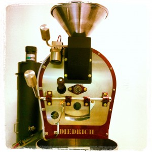 The roaster we use to roast our green coffee